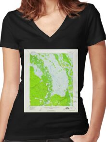 USGS TOPO Map Alaska AK Circle D-1 355043 1955 63360 Women's Fitted V-Neck T-Shirt
