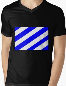Number 6 Flag Mens V-Neck T-Shirt