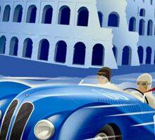 """ROMA VINTAGE GRAND PRIX"" Auto Racing Print Sticker"