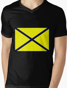 Number 5 Flag Mens V-Neck T-Shirt