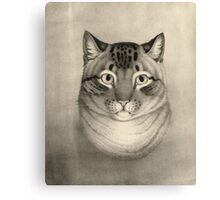 Unknown - A Favorite Cat, 1830-1840. Cat portrait: cute cat, kitten, kitty, cats, pets, wild life, animal, smile, little, kids, baby Canvas Print