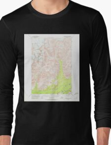 USGS TOPO Map Alaska AK Anchorage D-5 354047 1949 63360 Long Sleeve T-Shirt