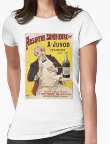 Unknown - Absinthe Superieure Beverage Poster. Man portrait: alcoholic, drinker, drunkard, wino,  fun,  hangover, humor, bottle, glass,  joy, meeting Womens Fitted T-Shirt