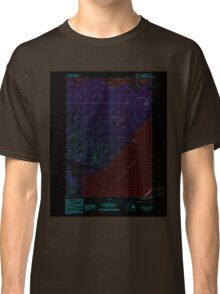 USGS TOPO Map Alaska AK Kodiak C-1 SW 353746 1987 25000 Inverted Classic T-Shirt
