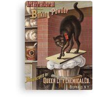 Unknown - Advertisement For International Baking Powder.. Cat portrait: cute cat, cook,  kitchen,  cafe,  restaurant,  dough,  cake,  buns,  biscuit, dessert, sweet Canvas Print