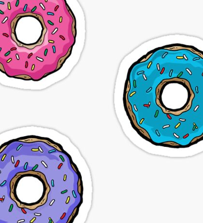The Simpsons donut stickers Sticker