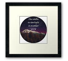 Walks In Starlight- The Hobbit Framed Print