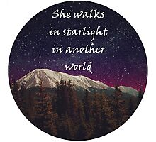 Walks In Starlight- The Hobbit Photographic Print
