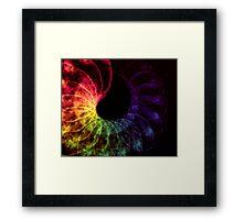 Rainbow Spiral abstract Framed Print