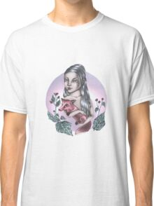 Girl with red fox Classic T-Shirt