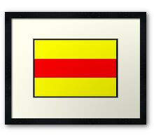 Number 2 Flag Framed Print