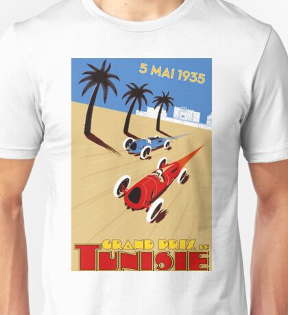 """TUNISIE GRAND PRIX"" Automobile Race Print Unisex T-Shirt"