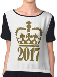 2017 crown Chiffon Top
