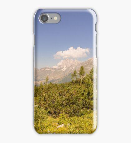 mountain peak in a summer day iPhone Case/Skin