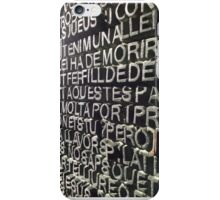 La Sagrada Familia Script iPhone Case/Skin