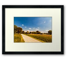 Fields of Italy in a spring day Framed Print