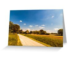 Fields of Italy in a spring day Greeting Card