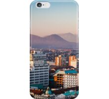 sunset on the city of Ljubljana iPhone Case/Skin