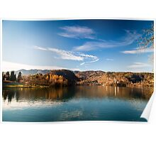 morning at the lake of Bled Poster