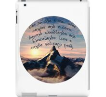 A Single Solitary Peak iPad Case/Skin