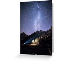 milky way in val Fiscalina Greeting Card