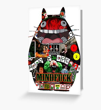 Totoro Mindfuck Greeting Card