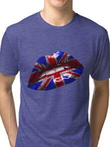 Union Jack Graphic Design Tri-blend T-Shirt