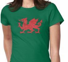 Welsh Red Dragon Wales T Shirt Womens Fitted T-Shirt