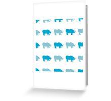 Seamless African Rhinoceros Background. Animal Pattern Greeting Card