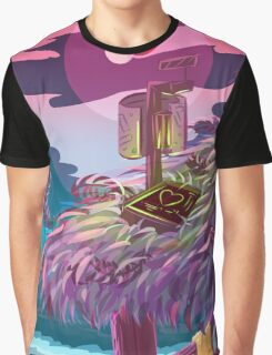 Flamingo Planet Vacations! Graphic T-Shirt