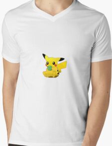 Pikachu Apple Mens V-Neck T-Shirt