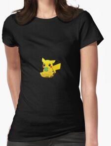 Pikachu Apple Womens Fitted T-Shirt