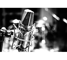 Microphone Distortion Photographic Print