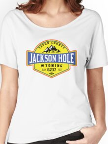 JACKSON HOLE WYOMING Mountain Skiing Ski Snowboard Snowboarding 2 Women's Relaxed Fit T-Shirt
