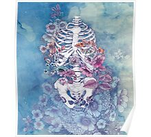 ribcage floral (print) Poster