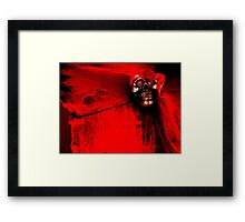The Crimson Ghost Framed Print