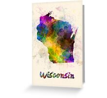 Wisconsin US state in watercolor Greeting Card