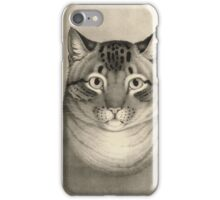 Unknown - A Favorite Cat, 1830-1840. Cat portrait: cute cat, kitten, kitty, cats, pets, wild life, animal, smile, little, kids, baby iPhone Case/Skin