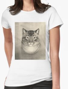 Unknown - A Favorite Cat, 1830-1840. Cat portrait: cute cat, kitten, kitty, cats, pets, wild life, animal, smile, little, kids, baby Womens Fitted T-Shirt