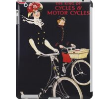 Unknown - James - The King Of Cycles & Motorcycles Poster. Woman portrait: sensual woman,  bicycle ,  bicycling ,  cycle,  cycling,  enjoy,  free time,  fun,  hobbies,  hobby,  holiday iPad Case/Skin