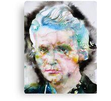 MARIE CURIE - watercolor portrait Canvas Print