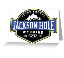 JACKSON HOLE WYOMING Mountain Skiing Ski Snowboard Snowboarding 4 Greeting Card