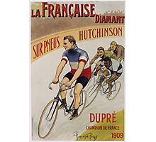Unknown - La Francaise Diamant Poster. People portrait: man, bicycle ,  bicycling ,  cycle,  cycling,  enjoy,  free time,  fun,  hobbies,  hobby,  holiday Photographic Print