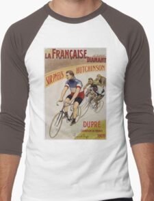 Unknown - La Francaise Diamant Poster. People portrait: man, bicycle ,  bicycling ,  cycle,  cycling,  enjoy,  free time,  fun,  hobbies,  hobby,  holiday Men's Baseball ¾ T-Shirt