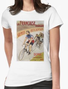 Unknown - La Francaise Diamant Poster. People portrait: man, bicycle ,  bicycling ,  cycle,  cycling,  enjoy,  free time,  fun,  hobbies,  hobby,  holiday Womens Fitted T-Shirt