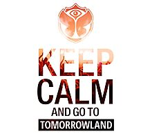 Keep Calm and go to Tomorrowland - Crowd Photographic Print