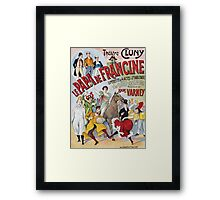 Unknown - Le Papa De Francine Poster. People portrait: party, woman and man,  enjoy,  free time,  fun,  hobbies,  hobby,  holiday,  holidays,  leisure time,  lifestyle Framed Print