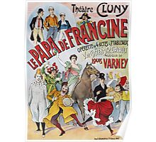 Unknown - Le Papa De Francine Poster. People portrait: party, woman and man,  enjoy,  free time,  fun,  hobbies,  hobby,  holiday,  holidays,  leisure time,  lifestyle Poster