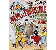Unknown - Le Papa De Francine Poster. People portrait: party, woman and man,  enjoy,  free time,  fun,  hobbies,  hobby,  holiday,  holidays,  leisure time,  lifestyle Photographic Print