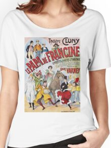 Unknown - Le Papa De Francine Poster. People portrait: party, woman and man,  enjoy,  free time,  fun,  hobbies,  hobby,  holiday,  holidays,  leisure time,  lifestyle Women's Relaxed Fit T-Shirt